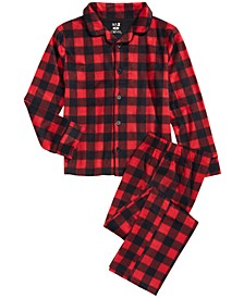 Little & Big Boys 2-Pc. Buffalo Check Fleece Pajama Set