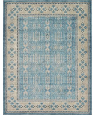 Bellmere Bel1 Light Blue 4' x 4' Square Area Rug