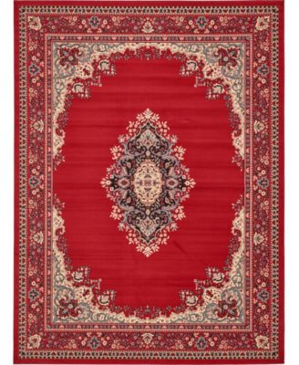 Birsu Bir1 Red 9' x 12' Area Rug