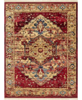 Borough Bor3 Red 4' x 6' Area Rug