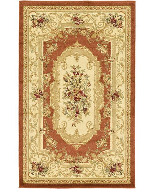 Bridgeport Home Belvoir Blv3 Brick Red Area Rug Collection