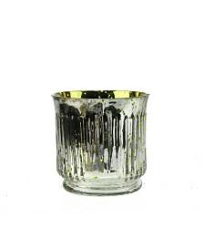 Northlight Set of 4 Ribbed Mercury Glass Decorative Votive Candle Holders