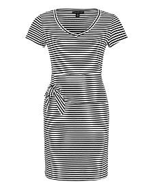 Tribal Striped Peplum Dress