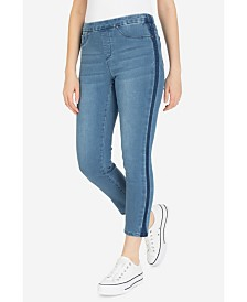 Tribal Tuxedo Stripe Pull-On Jeans