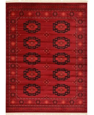 Vivaan Viv1 Red 8' x 11' Area Rug