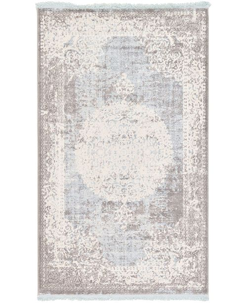 Bridgeport Home Norston Nor4 Light Blue Area Rug Collection