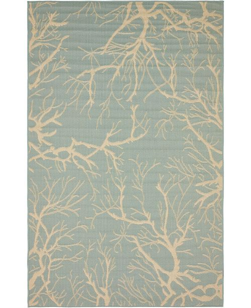 Bridgeport Home Pashio Pas6 Light Blue Area Rug Collection