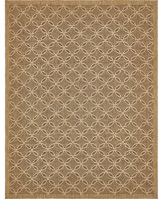 Pashio Pas6 Light Brown 6' x 6' Round Area Rug
