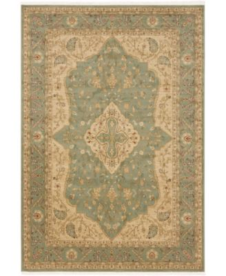 Orwyn Orw7 Light Green 6' x 6' Round Area Rug