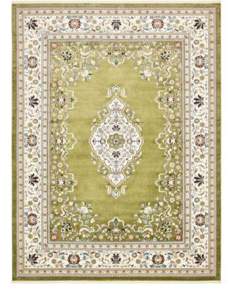 Zara Zar1 Green 10' x 13' Area Rug