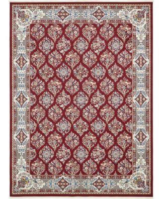 Zara Zar6 Burgundy 5' x 8' Area Rug