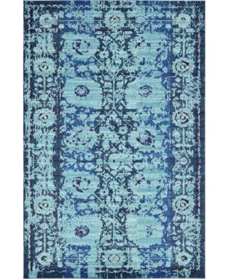 Sana San4 Turquoise 8' x 11' Area Rug