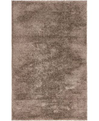 Salon Solid Shag Sss1 Brown 9' x 12' Area Rug
