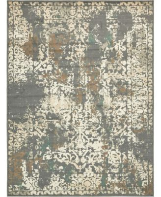 Tabert Tab1 Gray 8' x 8' Square Area Rug