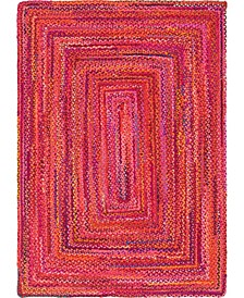 Roari Cotton Braids Rcb1 Red Area Rug Collection