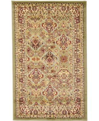 Passage Psg7 Light Green 4' x 4' Square Area Rug