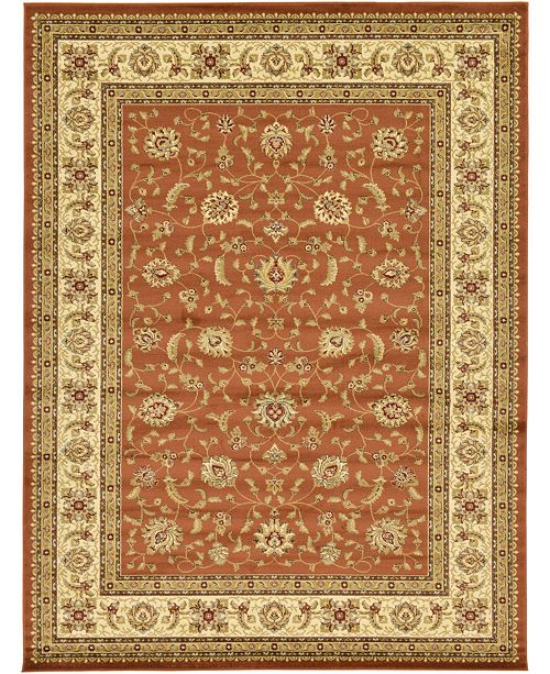Bridgeport Home Passage Psg4 Brick Red Area Rug Collection