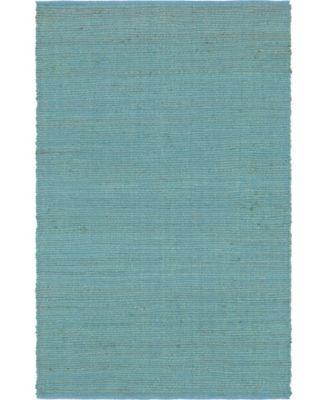 Prisma Jute Prs1 Turquoise 9' x 12' Area Rug