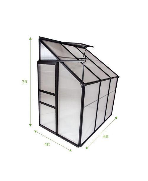 Ogrow Aluminium Lean-to Greenhouse- 25 Square feet