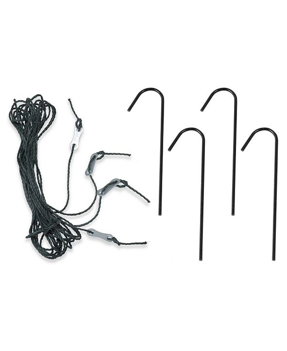 Ogrow Deep Fastening Iron Greenhouse Anchor Kit- Set of 4 Anchors with Guy Ropes