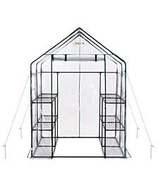 Deluxe Walk-in 3 Tier 12 Shelf Portable Greenhouse