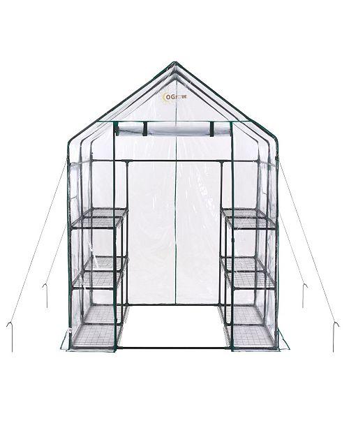 Ogrow Deluxe Walk-in 3 Tier 12 Shelf Portable Greenhouse