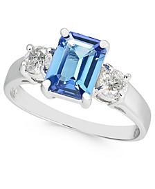 Tanzanite (1-5/8 ct. t.w.) & Diamond (3/8 ct. t.w.) Ring in 14k White Gold