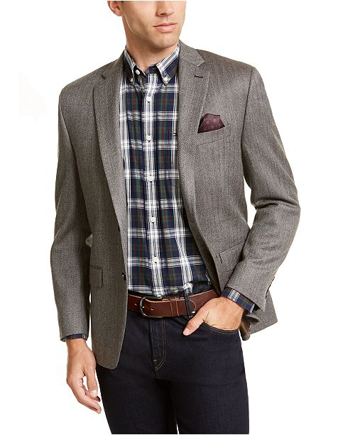 Lauren Ralph Lauren Luxury Wool/Cashmere-Blend Classic-Fit Herringbone Sport Coat