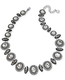 """Silver-Tone Crystal Collar Necklace, 17"""" + 2"""" extender, Created For Macy's"""