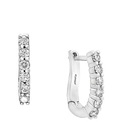 Pave Classica By EFFY Diamond Earrings (1/2 ct. t.w.) in 14k White Gold