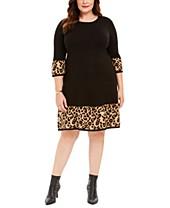 3/4 Sleeve Plus Size Dresses - Macy\'s