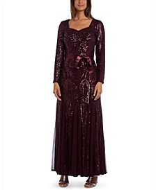 Embellished Godet Gown