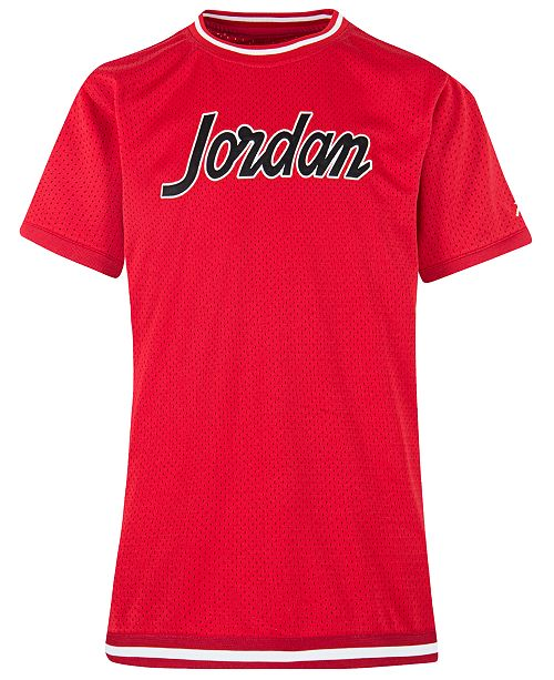 Jordan Big Boys Logo-Print Mesh T-Shirt