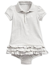 Baby Girls Interlock Ruffle Dress