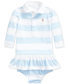 Polo Ralph Lauren Baby Girls Rugby Jersey Dress