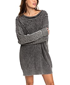 Juniors' Snow Day Sweater Dress