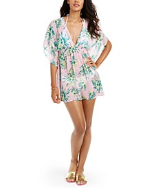 Juniors' Sammy Hibiscus Printed Caftan Cover-Up, Created for Macy's