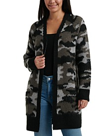 Camouflage Oversized Cardigan Sweater