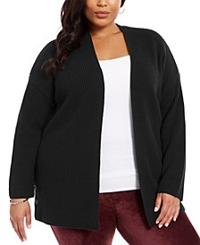 Plus Size Button-Trim Cardigan, Created for Macy's