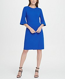 Short Sleeve Wrap Skirt Dress