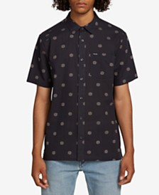 Volcom Men's Nolen Regular-Fit Geo-Print Shirt
