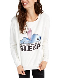 Juniors' Stitch Sleep Plush Sweatshirt