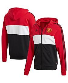 adidas Men's Manchester United Club Team Full-Zip Hoodie