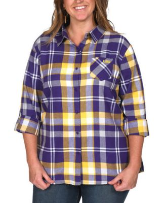 UG Apparel Womens Front Pleat Button-up 1