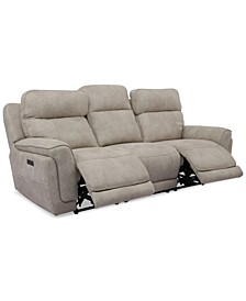"Bryer 91"" Fabric Dual Power Sofa"