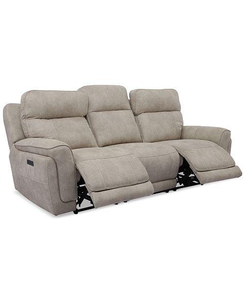 "Furniture Bryer 91"" Fabric Dual Power Sofa"