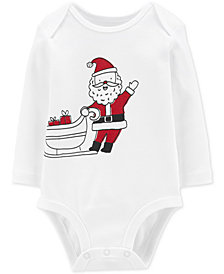 Carter's Baby Boys or Baby Girls Santa Sleigh Cotton Bodysuit