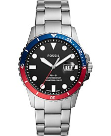 Men's Blue Diver Stainless Steel Bracelet Watch 42mm
