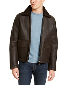 Men's Leather Shearling Flight Jacket