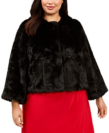 Plus Size Faux-Fur Shrug
